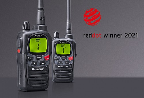 G9 PRO WINNER OF THE 2021 RED DOT  AWARD